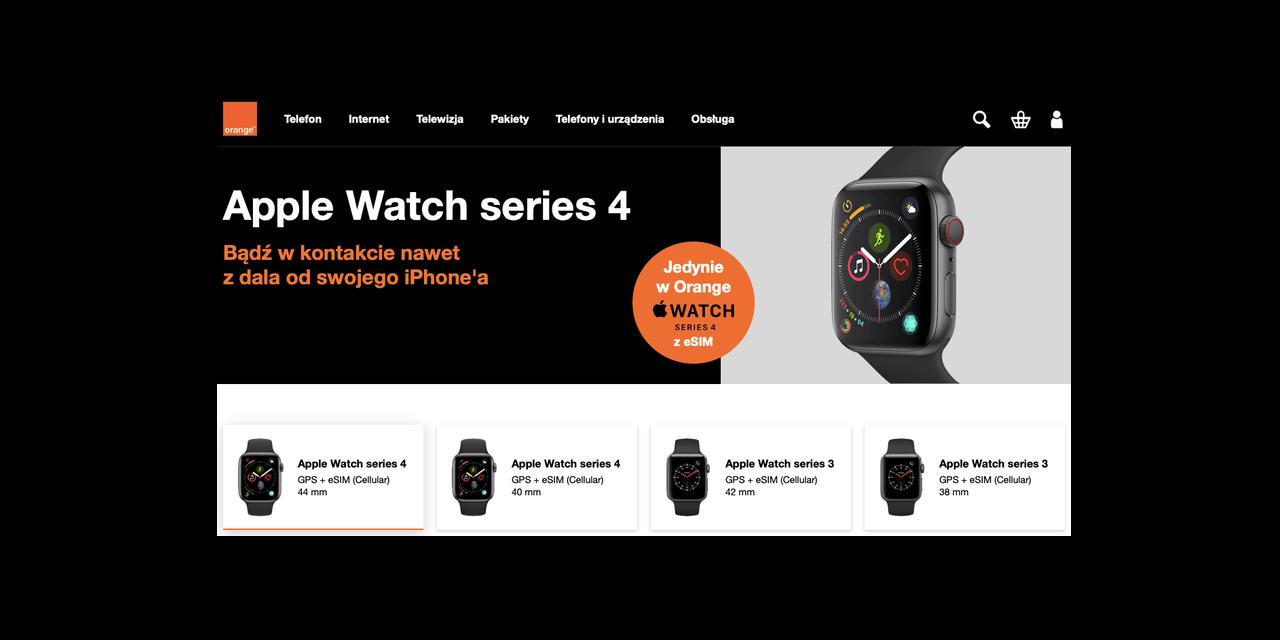 """Apple Watch """"komórkowy"""" dostępny w Orange"""