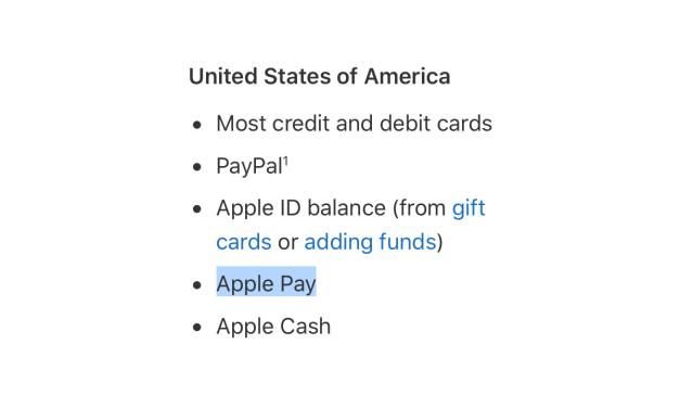 Apple Pay jako metoda płatności w App Store omija Europę