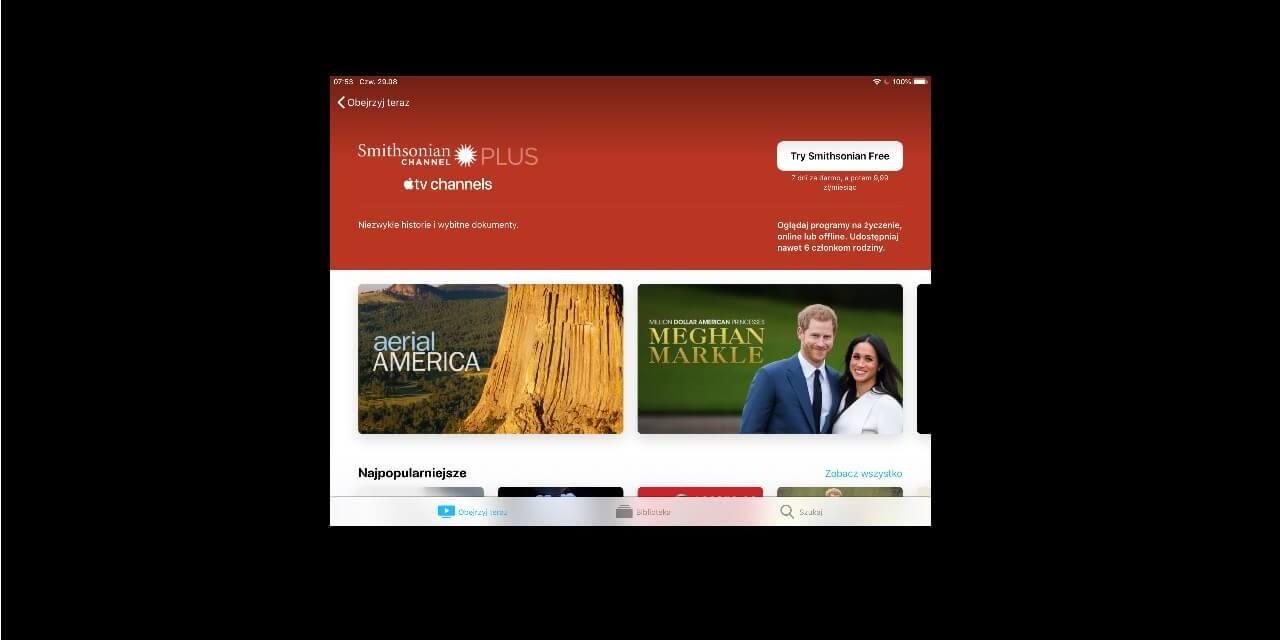 Smithsonian pierwszy kanał w Apple TV app dostępny w Polsce