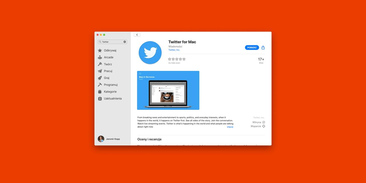 Twitter dla Mac już jest! Pokaz możliwości Catalyst