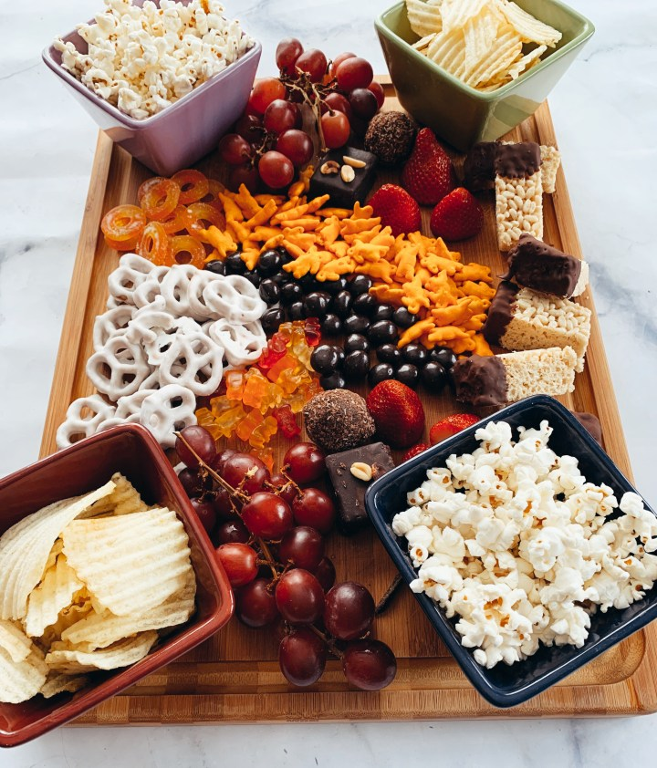 Movie Night Charcuterie Board