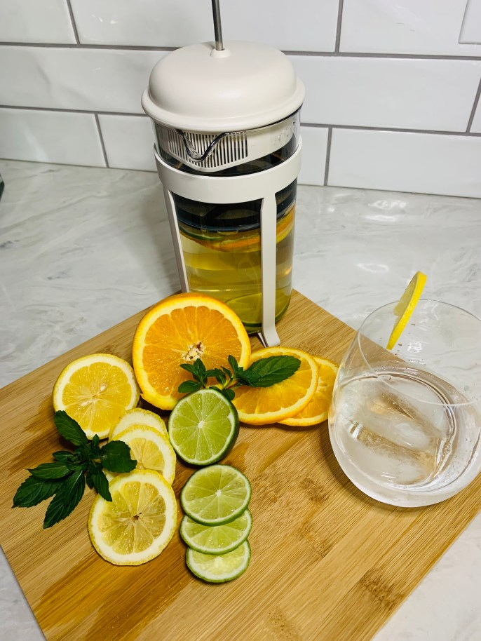 Summer drinks using the french press
