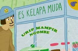 penjual es kelapa muda