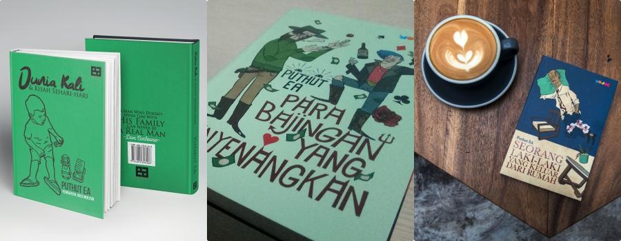 Tiga buku yang pernah saya hasilkan dari menulis lewat gajet