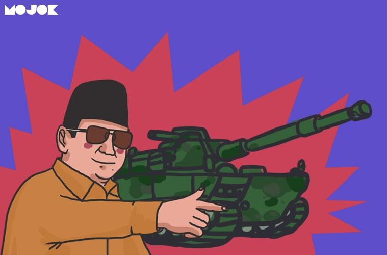 """Ditanya Tentang Anggaran Pertahanan, Prabowo: """"Pilih Gue Dulu Jadi Presiden"""" - Mojok.co"""
