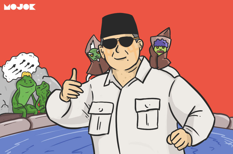 Prabowo Raja Cebong Indonesia MOJOK.CO