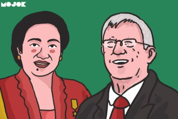 megawati dan sir alex ferguson MOJOK.CO