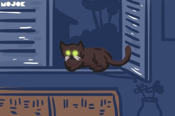 cerita horor kucing hitam kuku ketuk kaca jendela mojok.co