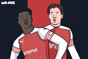 Bukayo Saka Bellerin AMN Arsenal Liga Inggris MOJOK.CO