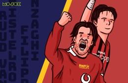 Ruud van Nistelrooy dan Filippo Inzaghi Manchester United AC Milan
