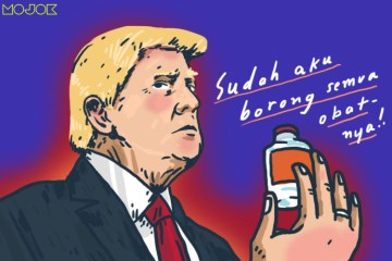 amerika donald trump borong remdesivir obat corona obat covid-19 monopoli america gilead science negara maju penyembuhan corona vaksin corona mojok.co