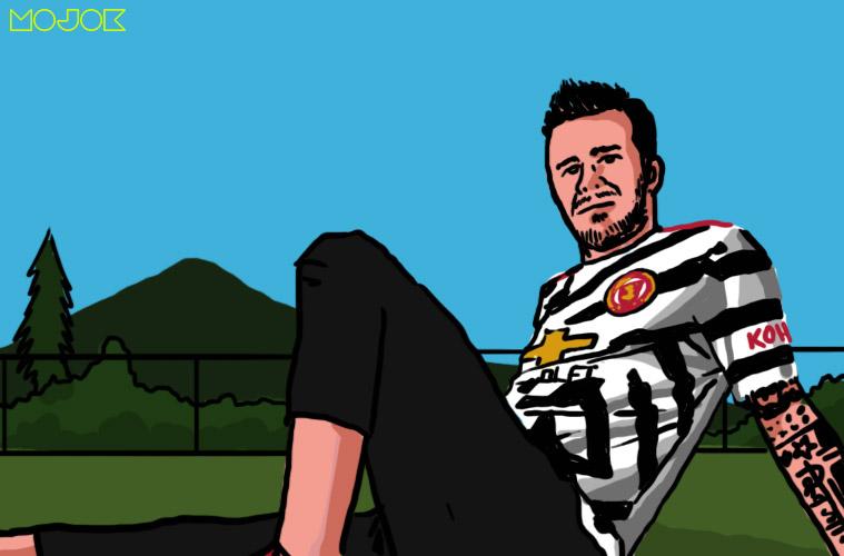 Sirep David Beckham Pakai Jersei Ketiga Manchester United, Bikin Lupa Mason Greenwood MOJOK.CO