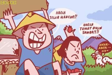 petani sayur peternak telur peternak ayam petani buang hasil panen telur dibuang tata niaga hasil pertanian indonesia mojok.co