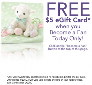 babiesrus giftcard 300x276 Babies R US: FREE $5 e Gift Card