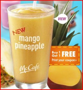 mcdonalds 277x300 *HOT* McDonalds Coupon: Buy One Get One Free Smoothie