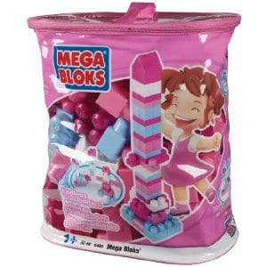 megabloks pink Megabloks 80 pc Large Mega Bloks   Pink Bag only $15 Shipped!