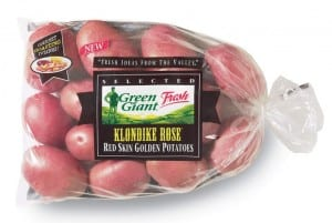 green giant Klondike Rose potatoes Green Giant 5 LB Bag of Potatoes: Buy 1 Get 1 FREE Coupon