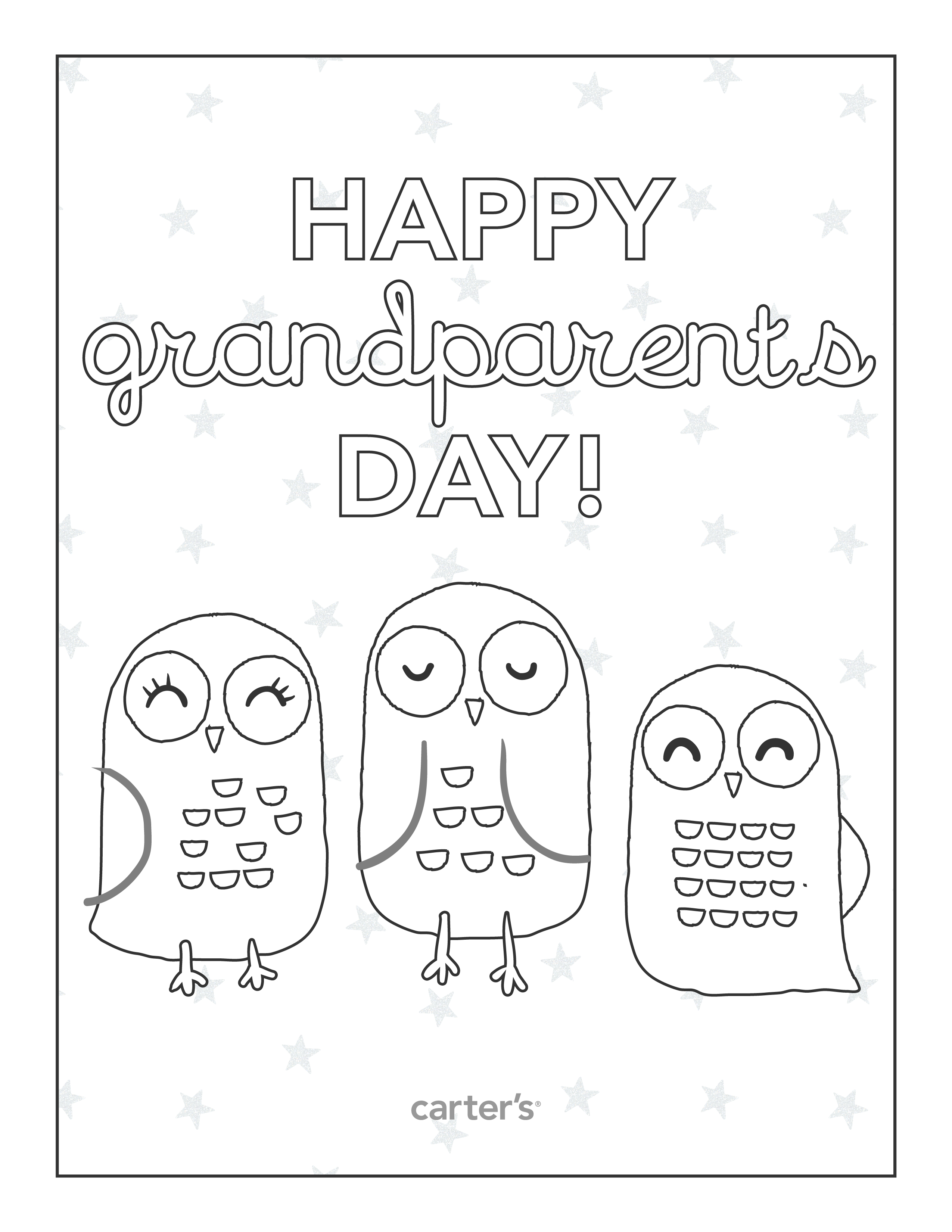Free Grandparent S Day Coloring Pages From Carter S