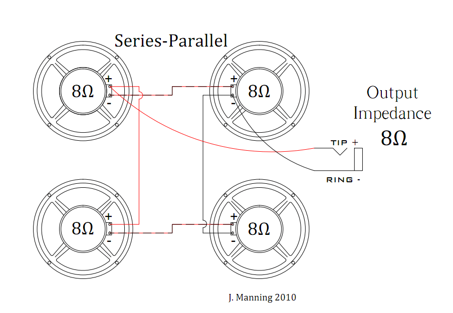 wiring diagram for guitar speaker cabinet sonos in ceiling in wall rh color castles com Wiring Speakers in Series 4 Ohm Speaker Wiring Diagram