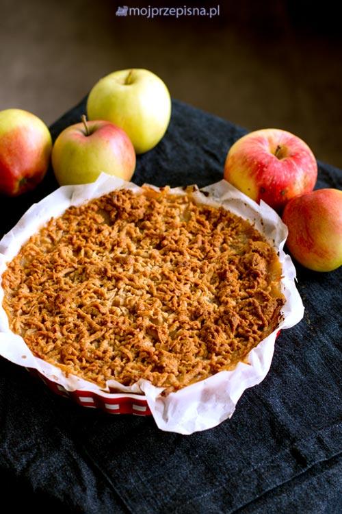 Szarlotka z jabłek prażonych