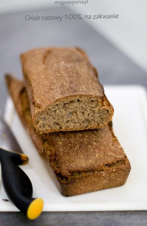 Chleb razowy 100%, na zakwasie