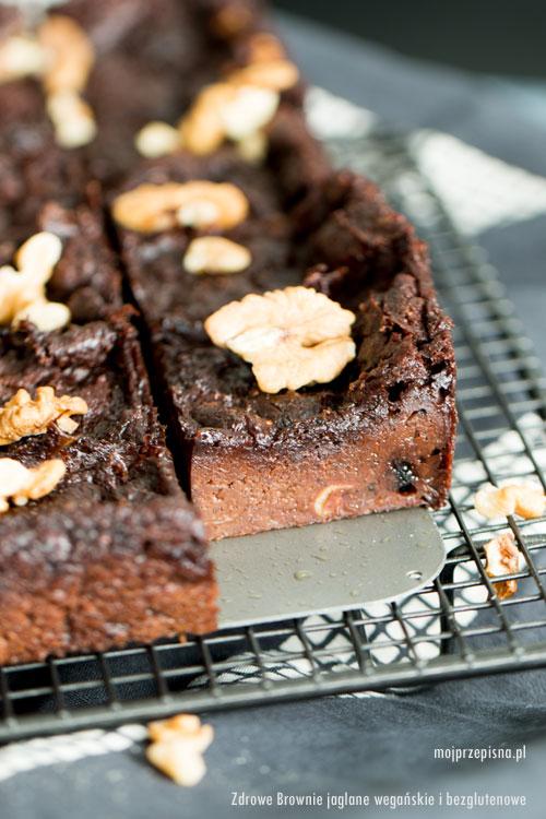 Zdrowe Brownie jaglane wegańskie i bezglutenowe