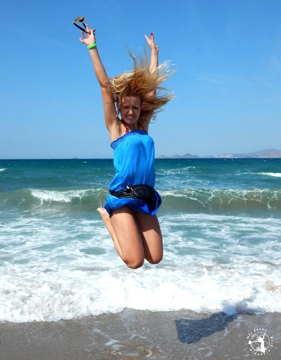 Mój Punkt Widzenia Blog - skok na wyspie Kos, plaża Tigaki Beach
