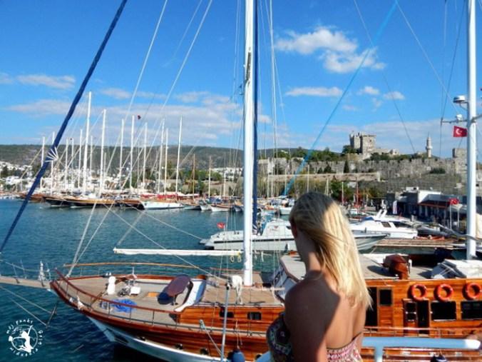 Mój Punkt Widzenia Blog - port tureckiego Bodrum, statki i jachty