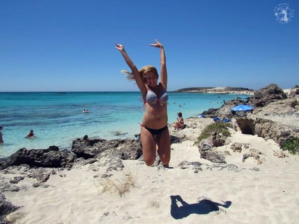 Mój punkt widzenia blog - skok na plaży Elafonissi, Kreta