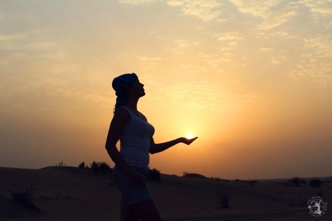 Mój Punkt Widzenia Blog - Safari w Dubaju, zachód słońca