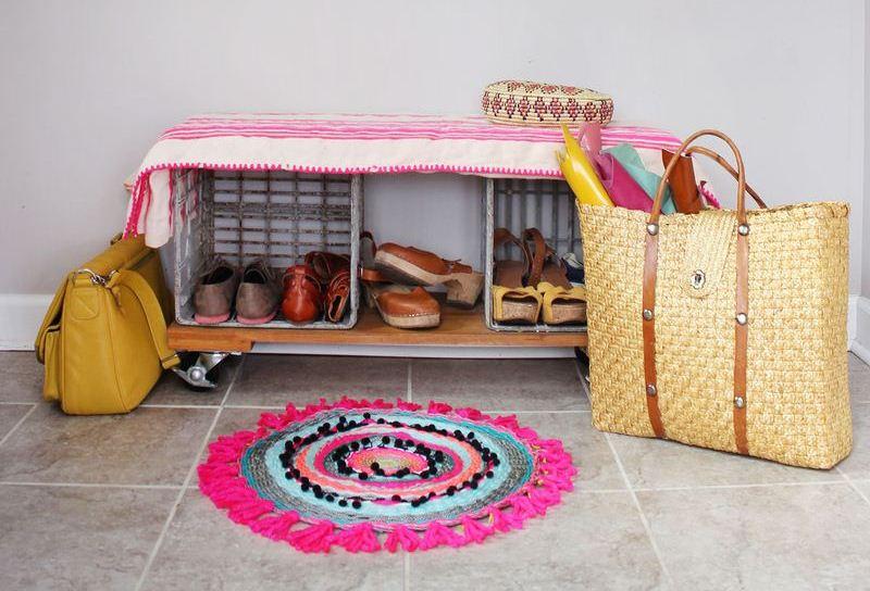 DIY kružni tkani tepih.