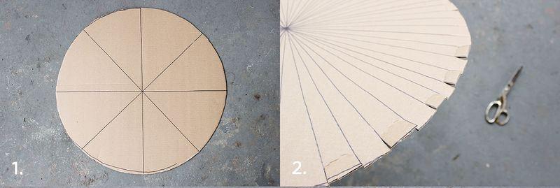 Iscrtavanje kruga i zasecanje kartona.