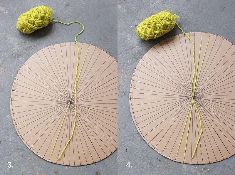 DIY kružni tkani tepih - namotavanje vune.