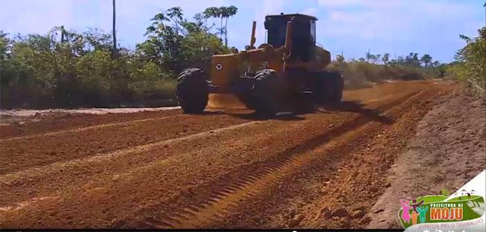 Moradores das comunidades São Sebastião e Sucutuba receberam respectivamente 12km e 18km de estradas totalmente recuperadas.