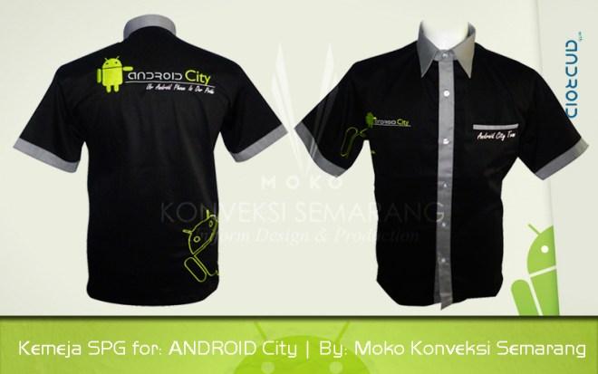 Desain Baju Seragam Kantor Android City