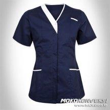 supplier seragam perawat model baju kerja tunik rumah sakit modern warna hitam putih