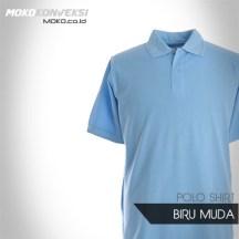 Tempat Pembuatan Kaos Desain Kaos Polo Shirt polos warna biru MUDA
