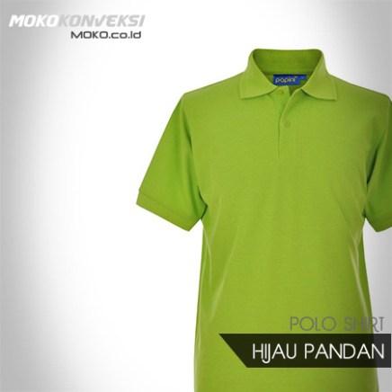 Model Kaos Berkerah Pria Polo Shirt polos warna hijau PANDAN