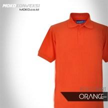Harga Kaos Polo Shirt polos orange Terbaru