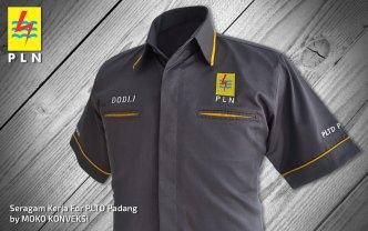 Bikin Baju Seragam PLN PLTD Padang Moko Konveksi Bagian Depan