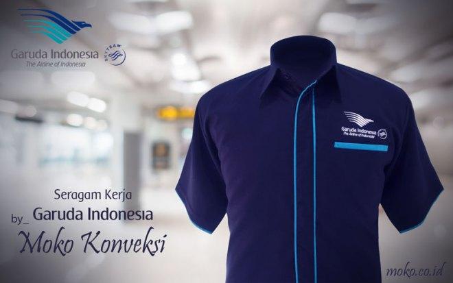 Model Baju Kemeja Maskapai Penerbangan Garuda Indonesia