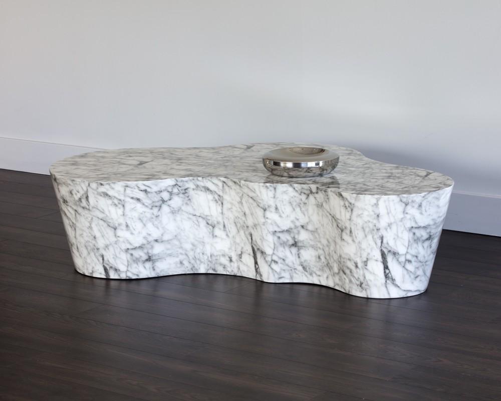 sunpan 103309 ava coffee table marble look