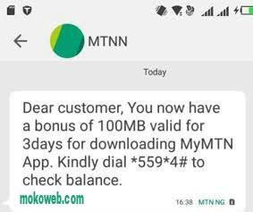 Mymtn app free 100mb data