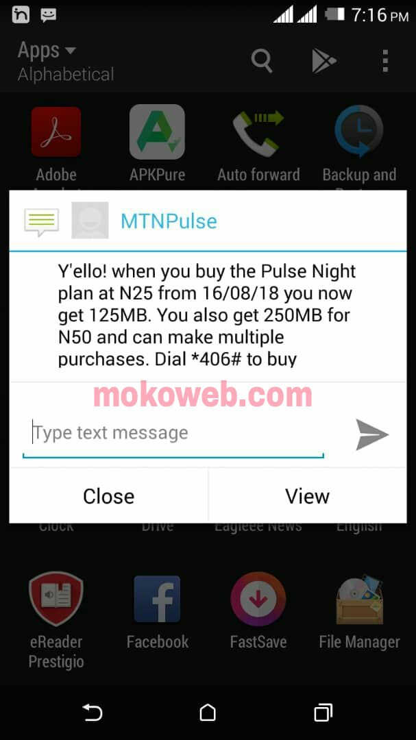 New MTN Night Plan 125MB for N25