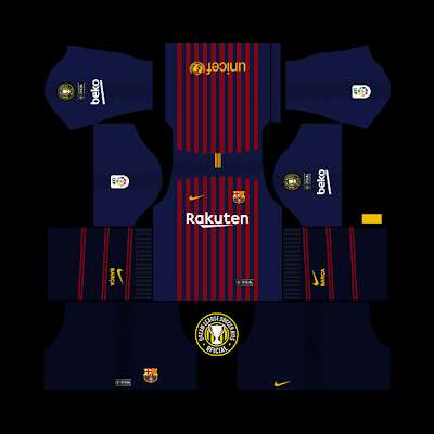 Dream league soccer kit for Barcelona