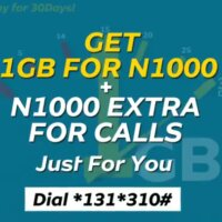 MTN n1000 for 1gb + n1000 plan