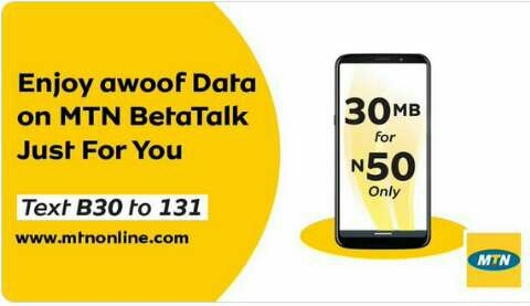 MTN 30mb for n50