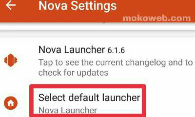 Android Default launcher settings