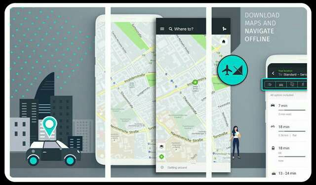 Here WeGo map app