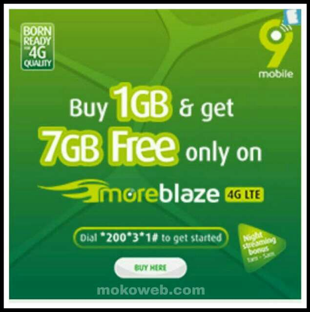 Free 9Mobile 7GB